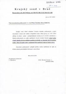 10T 1/2010 - Sdělení JUDr. Miroslava Nováka ze dne 24.1.2014